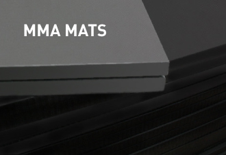 Smooth surface MMA mats