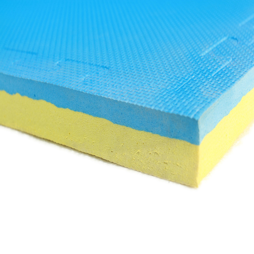 interlocking foam mat blue - yellow