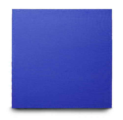 Blue EVA interlocking jigsaw mats with edging