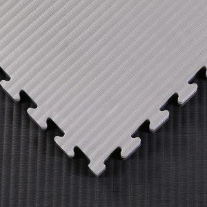 tatami jigsaw mats black and grey
