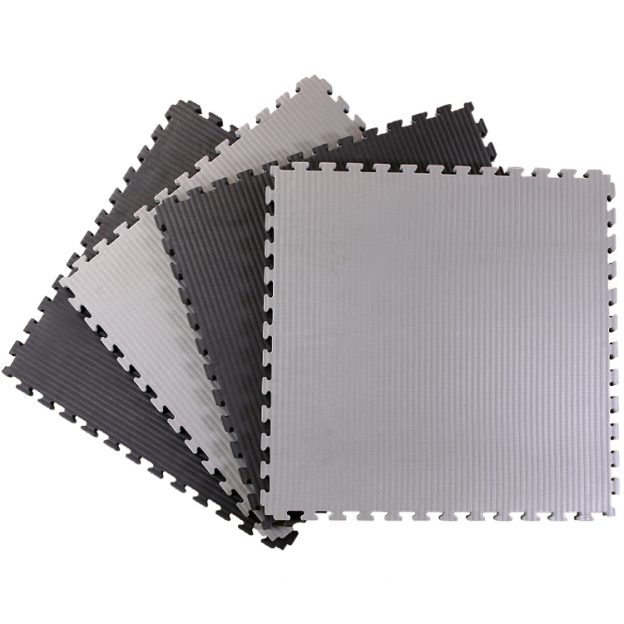 Black and Grey Tatami Jigsaw Mats