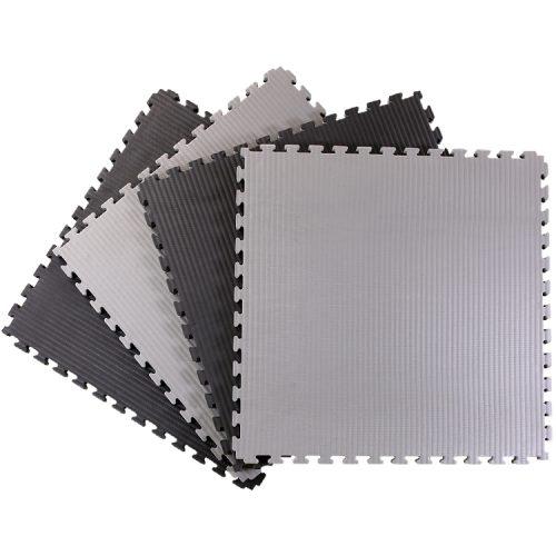Black and Grey Tatami Jigsaw Mats