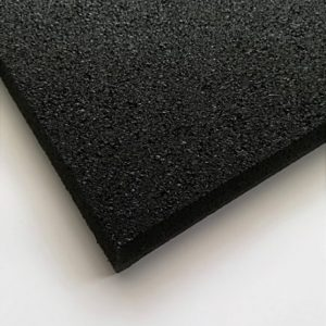 Black Rubber Gym Mat