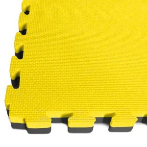 yellow/black tatami interlocking mats