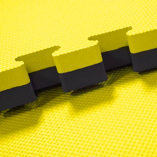 yellow/black tatami gym mats