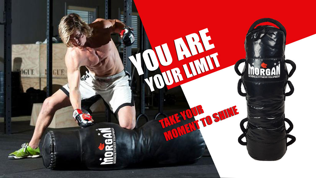 MMA fighter punching bag